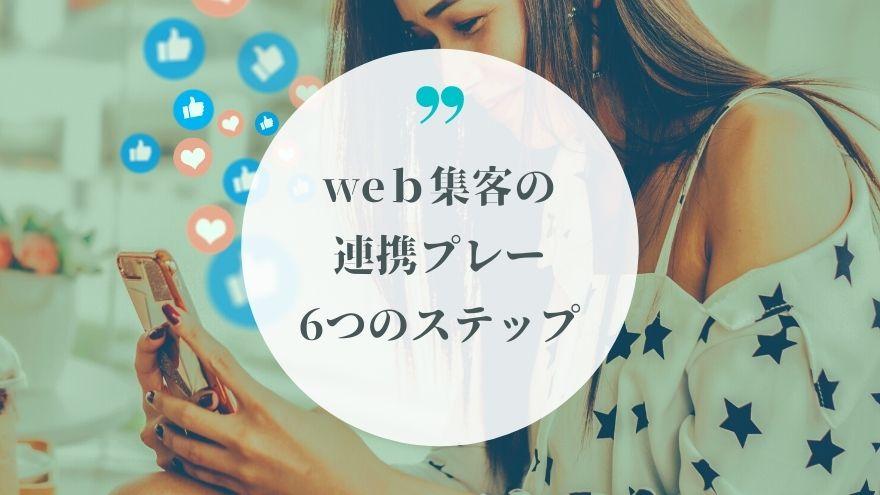 web集客の連携プレー6つのステップ
